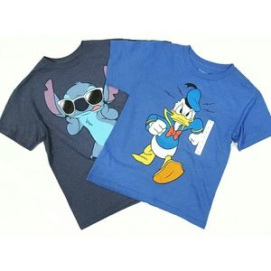 Disney Donald Duck and Stitch Lot 2 Tees NWOT B10